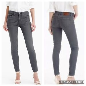 J Crew Toothpick Jean in Grey
